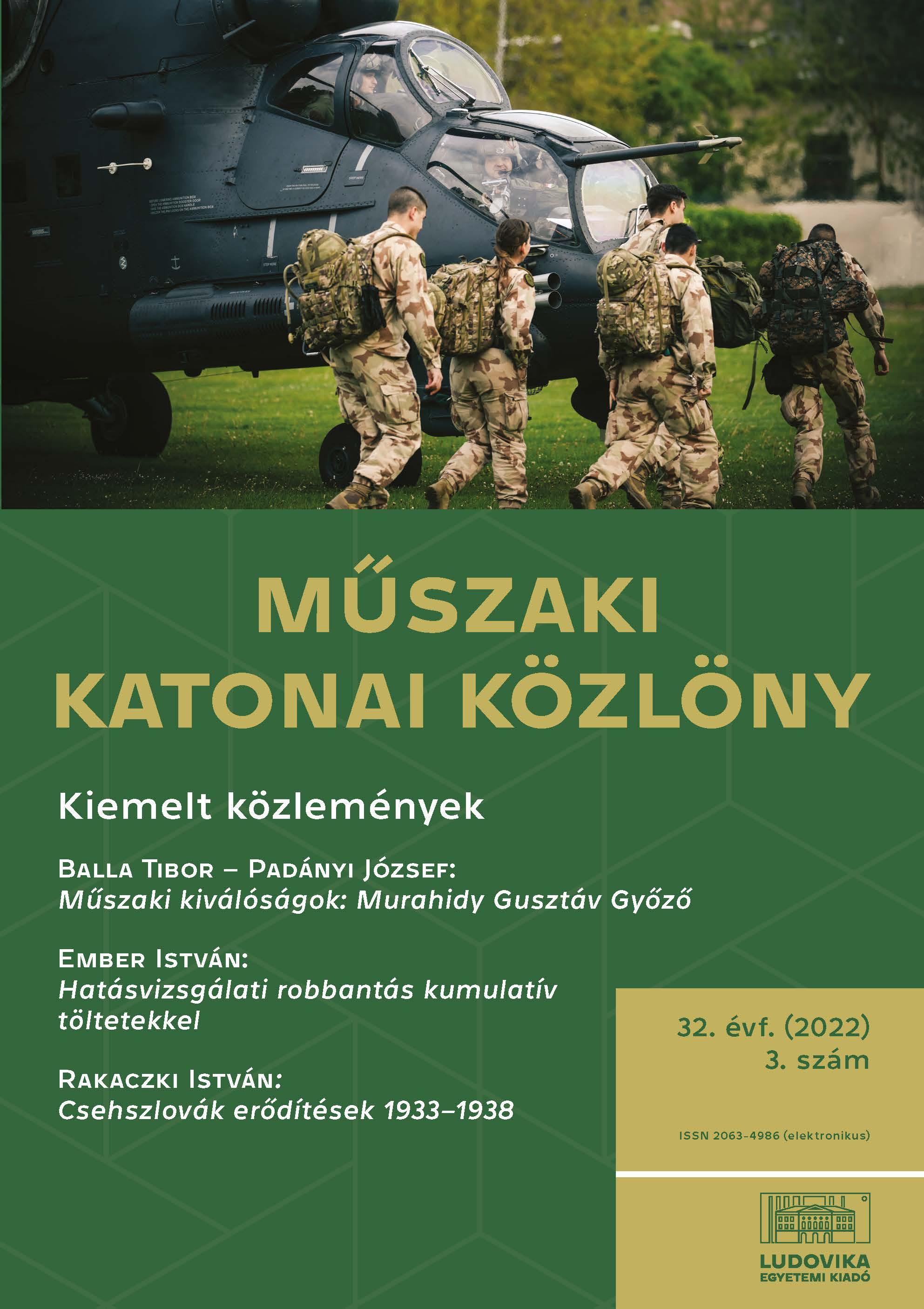 Műszaki Katonai Közlöny 2019/3.